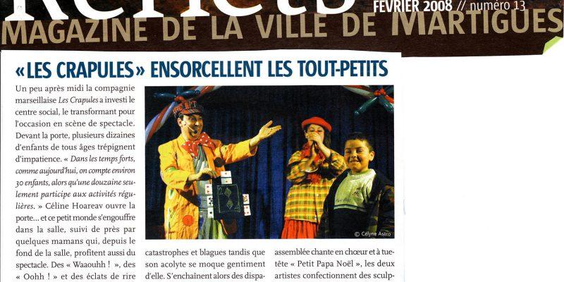 article REFLETS 2008 martigues